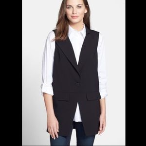 NWT Eileen Fisher Project notch collar long vest
